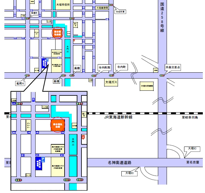 大垣市総合福祉会館 車場 地図